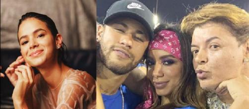Bruna Marquezien e a polêmica com Anitta (Reprodução/Instagram/@brunamarquezine/@Davidbrazil)