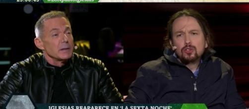 Hilario Pino y Pablo Iglesias en imagen