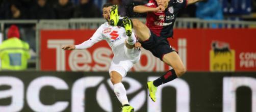 Nicolò Barella con la maglia del Cagliari