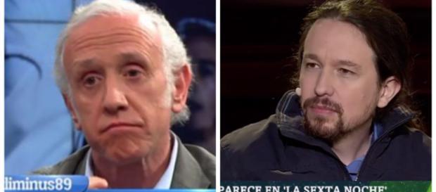 Eduardo Inda y Pablo Iglesias en imagen