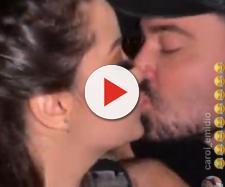 Maiara e Fernando juntos em stories. (Reprodução/Instagram)