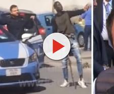 Senegalese armato di mazza minaccia passanti (Ph. Facebook Matteo Salvini)