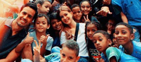Marina Ruy Barbosa em projeto social. (Reprodução/Instagram/@marinaruybarbosa)
