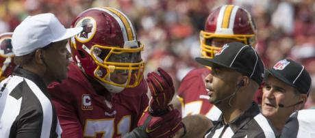 Trent Williams has already been named to seven Pro Bowls. [Image Source: Flickr | Keith Allison]