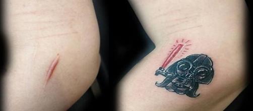 Darth Vader Tattoo (Reprodução/Instagram/@flavia.daedratattoo)