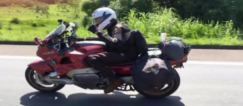 Empresário viaja dos Estados Unidos a Petrópolis de moto (Reprodução/Arquivo Pessoal)