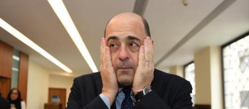 Il segretario Pd Nicola Zingaretti criticato dai renziani dopo la sconfitta in Basilicata