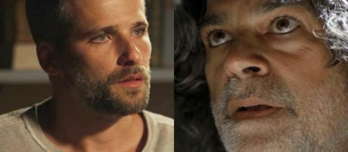 Murilo e Gabriel conversam sobre Luz. (Reprodução/ TV Globo)