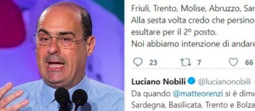 Nicola Zingaretti ed alcuni polemici tweet contro di lui