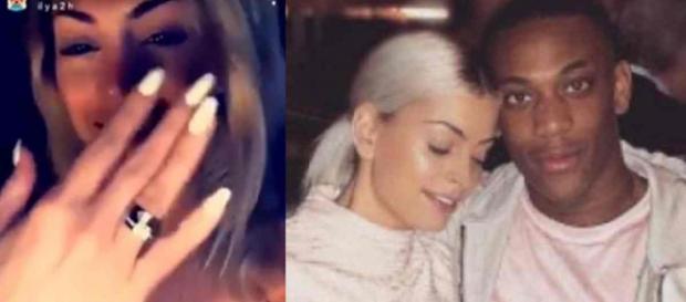 Anthony Martial demande Mélanie Da Cruz en mariage à Dubaï, et elle a dit oui.