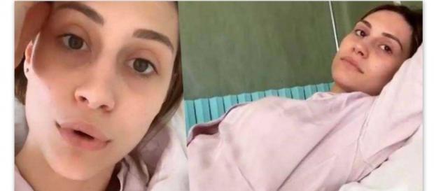 Beatrice Valli finisce in ospedale e registra un video