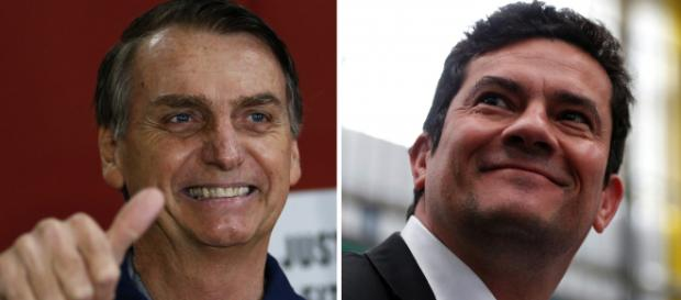 Bolsonaro publica post com elogios a Sergio Moro (Arquivo Blasting News)