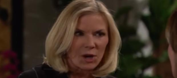 Brooke gets fierce and forceful against Taylor to protect Hope. - [CBS / YouTube screencap]