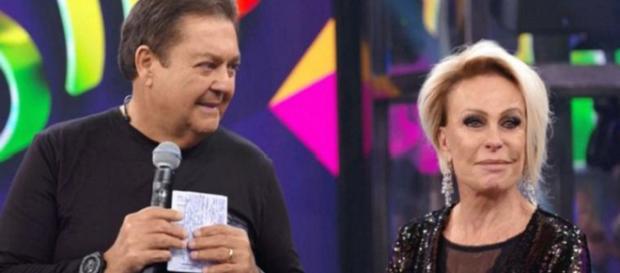 Ana Maria Braga se emocionou com homenagem de Faustão. (Foto - Reprodução/ TV Globo)