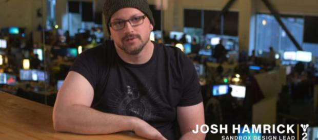 Josh Hamrick in the Go Fast Update vidoc for Destiny 2. [Image source: Bungie/YouTube]