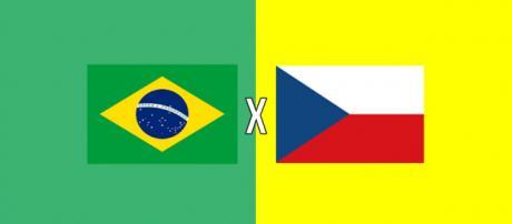 Brasil x República Tcheca ao vivo (montagem Diogo Marcondes)