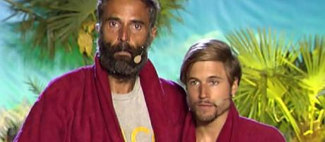 Rafa Lomana y Abraham, en la final de 'Supervivientes 2014'. / Telecinco