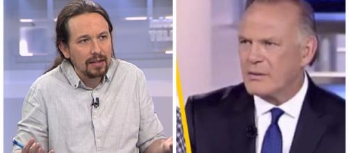 Pablo Iglesias y Pedro Piqueras