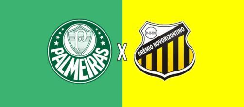 Palmeiras x Novorizontino ao vivo. (Reprodução/ Arte/ Diogo Marcondes)