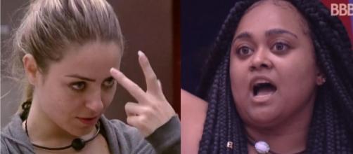 Paula e Rízia tiveram desentendimento BBB19. (Reprodução/Gshow)