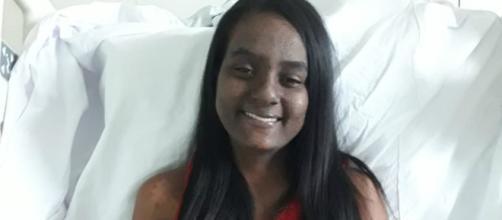Talita Cristina, vítima de Brumadinho está internada há 60 dias. (José Antônio Soares/Arquivo pessoal)