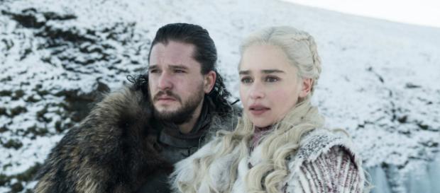 Jon Snow e Daenerys em cena de 'Game of Thrones'. (Divulgação/HBO)