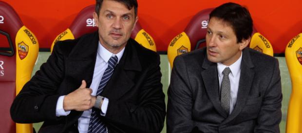 Leonardo e Maldini, dirigenti rossoneri