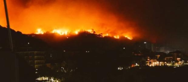 Liguria in fiamme, incendio a Cogoleto: chiusa la A10, decine le famiglie evacuate