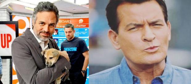 Mark Ruffalo e Charlie Sheen. (Reprodução/Instagram)