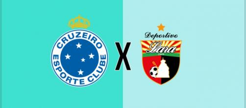 Cruzeiro x Deportivo Lara ao vivo. (Fotomontagem/Diogo Marcondes)