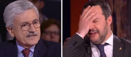 """D'Alema ha definito quella di Salvini una """"Personalità rozza"""""""