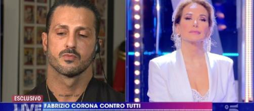 Fabrizio Corona ospite da Barbara D'Urso