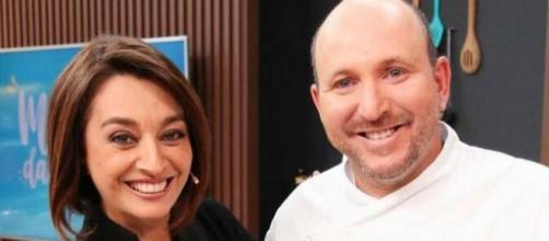 A apresentadora Catia Fonseca e o cozinheiro Bruno Coutinho. (Reprodução/Instagram/@catiafonseca)