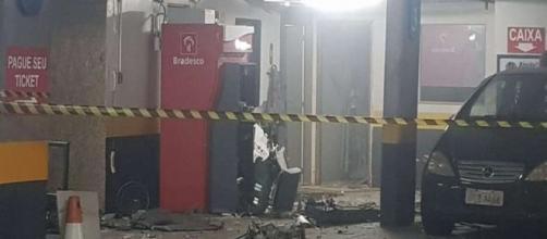 Ladrões explodem caixas eletrônicos (Divulgação/PMDF)