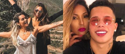 Mães famosas que deram à luz jovens (Reprodução/Instagram/@kellykey/@mcpablinho)