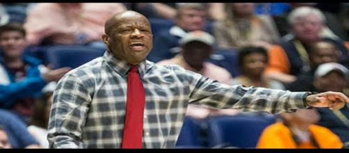 Mike Anderson looks good in red. - [WholeHogSports / YouTube screencap]