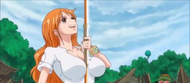 Nami usa su cuerpo para lograr escapar del ejercito de Kaido