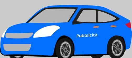 Auto pubblicitaria (immagine vettoriale)