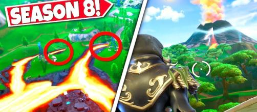 Fortnite's volcano eruption is coming in Season 8. Credit: CommunicGaming / YouTube