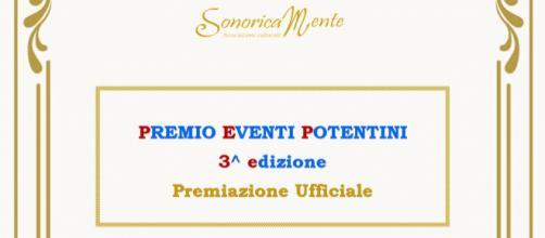 """Locandina della III° EDIZIONE del """"Premio Eventi Potentini"""""""