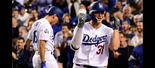 The Dodgers' Joc Pederson was amongst the stars on MLB Opening Day 2019. [Image via MLB/YouTube]
