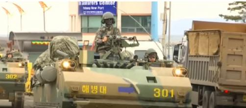 Annual U.S. - South Korean Military Drills Get Underway. [Image source/NBC News YouTube video]