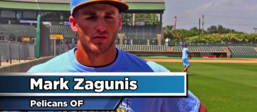 Mark Zagunis is having himself a spring [Image via MyrtleBeachPelicans/YouTube]