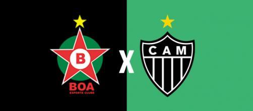 Boa Esporte x Atlético-MG ao vivo. (Foto: Montagem/ Diogo Marcondes)