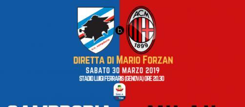 Diretta 29ma di Serie A: Sampdoria - Milan - Arbitro: Daniele Orsato
