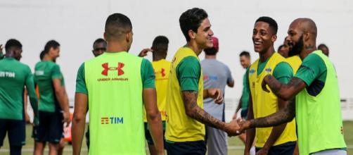 Pedro volta a treinar com elenco do Flu (Divulgação/Lucas Merçon/Fluminense)