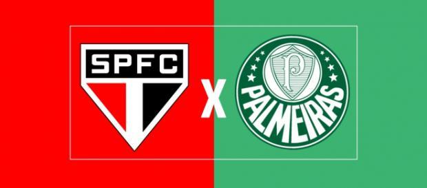 São Paulo x Palmeiras ao vivo. (Foto: Montagem/ Diogo Marcondes)