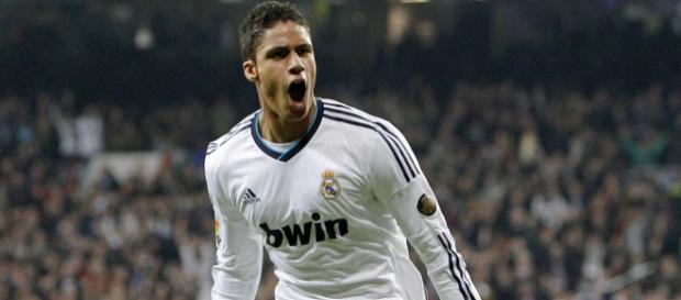 Varane, celebrando un gol con el Real Madrid