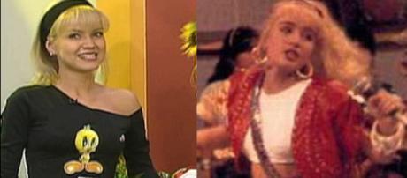 Angélica e Eliana em seus programas infantis (Reprodução SBT/TV Manchete)