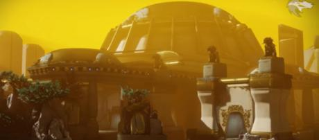 Leaks suggest that Guardians will be returning to the Leviathan. [Image source: xHOUNDISHx/YouTube]